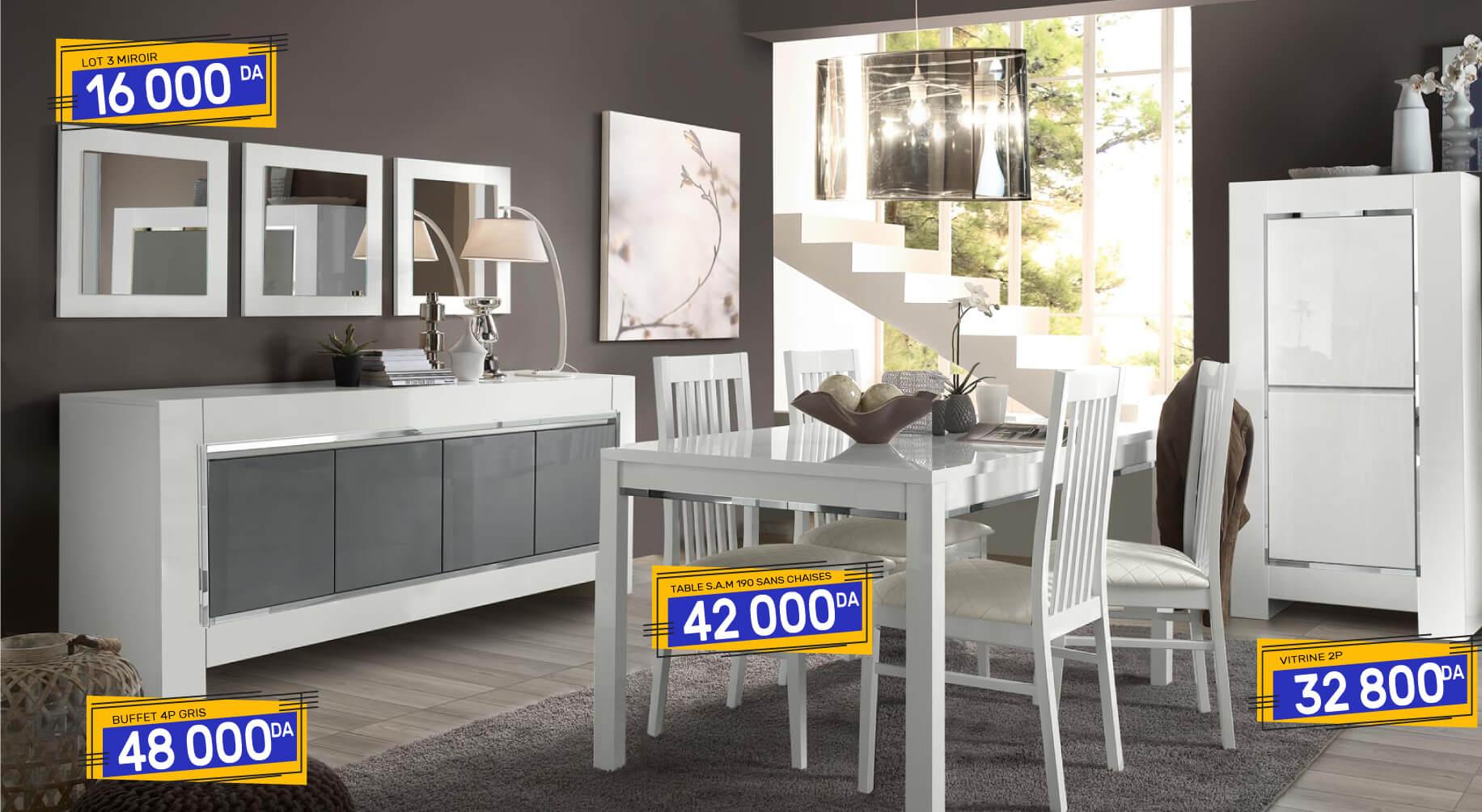 salle manger luna blanche ideal mobili. Black Bedroom Furniture Sets. Home Design Ideas